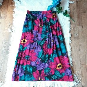Diane Von Furstenberg • Floral Pleated Skirt